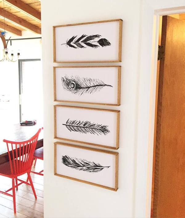 DIY Wall Decor Ideas: how to mount and frame printable art Remodelaholic