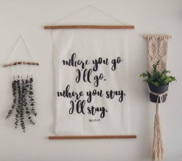 Large Scale DIY Calligraphy Art {the easy way!}