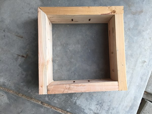 Assemble box for corner table of bench