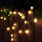 outdoor solar string lights, crystal globe