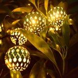 outdoor solar string lights, moroccan globe