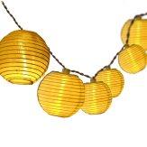 outdoor solar string lights, paper lantern