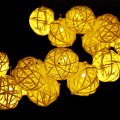 outdoor solar string lights, rattan ball 20ft