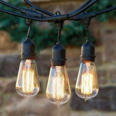outdoor string lights, edison