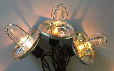 outdoor string lights, galvanized