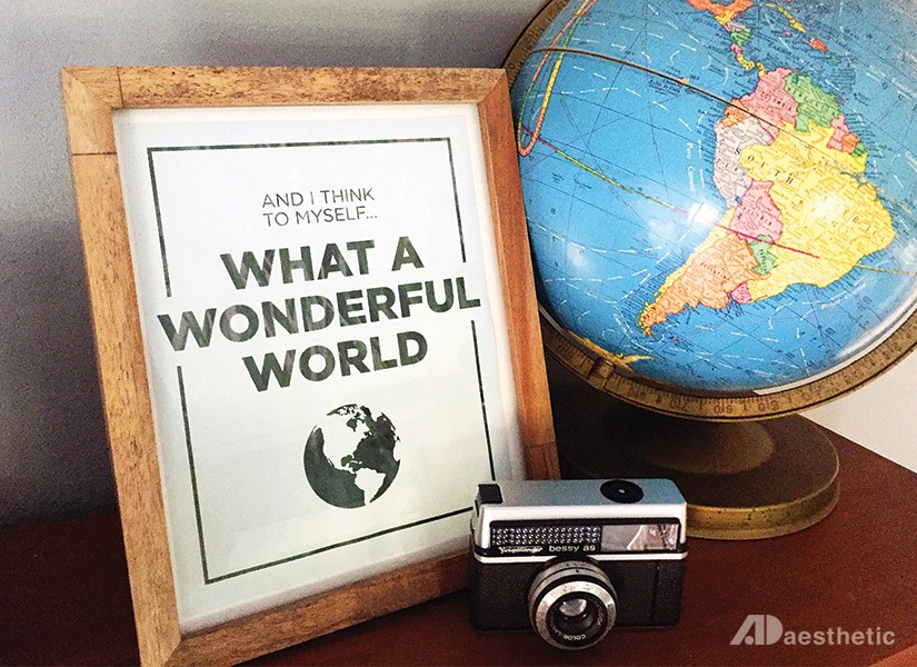 What A Wonderful World, Louis Armstrong Song Lyric Wall Art Printable, AD Aesthetic For Remodelaholic