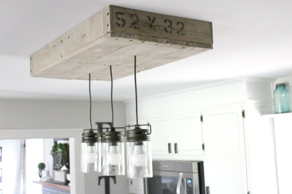 Remodelaholic How To Make A Pallet Wood Light Box - Kitchen ceiling light box