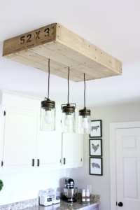 Remodelaholic | How to Make a Pallet Wood Light Box