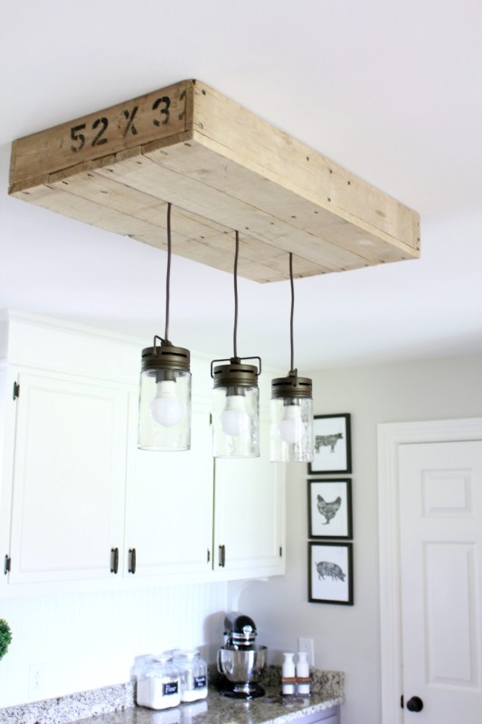 diy-palletwood-lightbox-for-kitchen-island-pendant-lighting-noting-grace-featured-on-remodelaholic