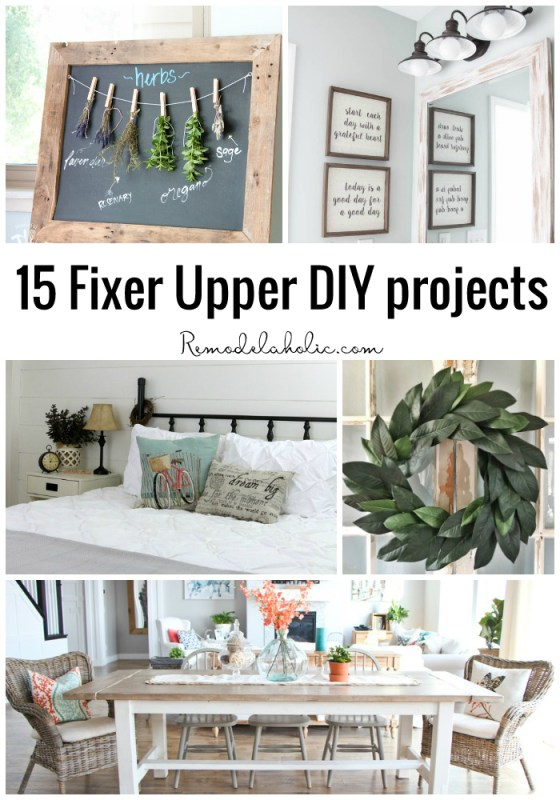 If you love the look of the FIXER UPPER style, channel your inner Joanna with these 15 Fixer Upper DIY Projects that are perfect for the farmhouse featured on Remodelaholic.com