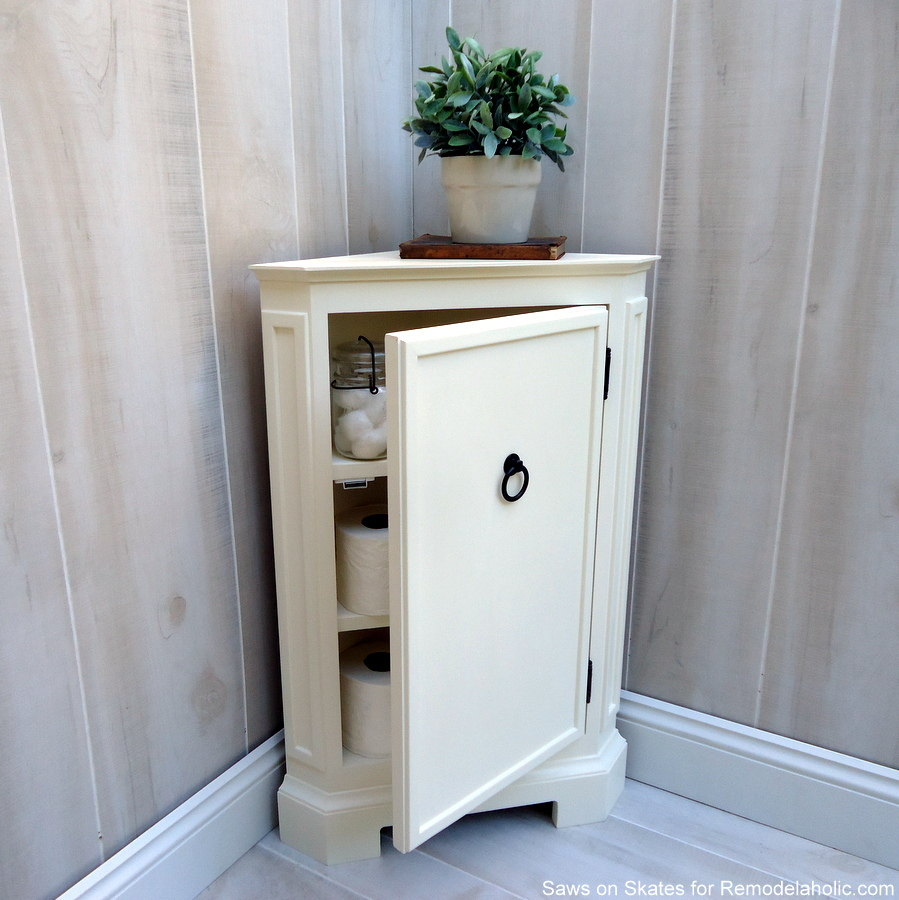 remodelaholic how to build a catalog inspired corner cabinet. Black Bedroom Furniture Sets. Home Design Ideas