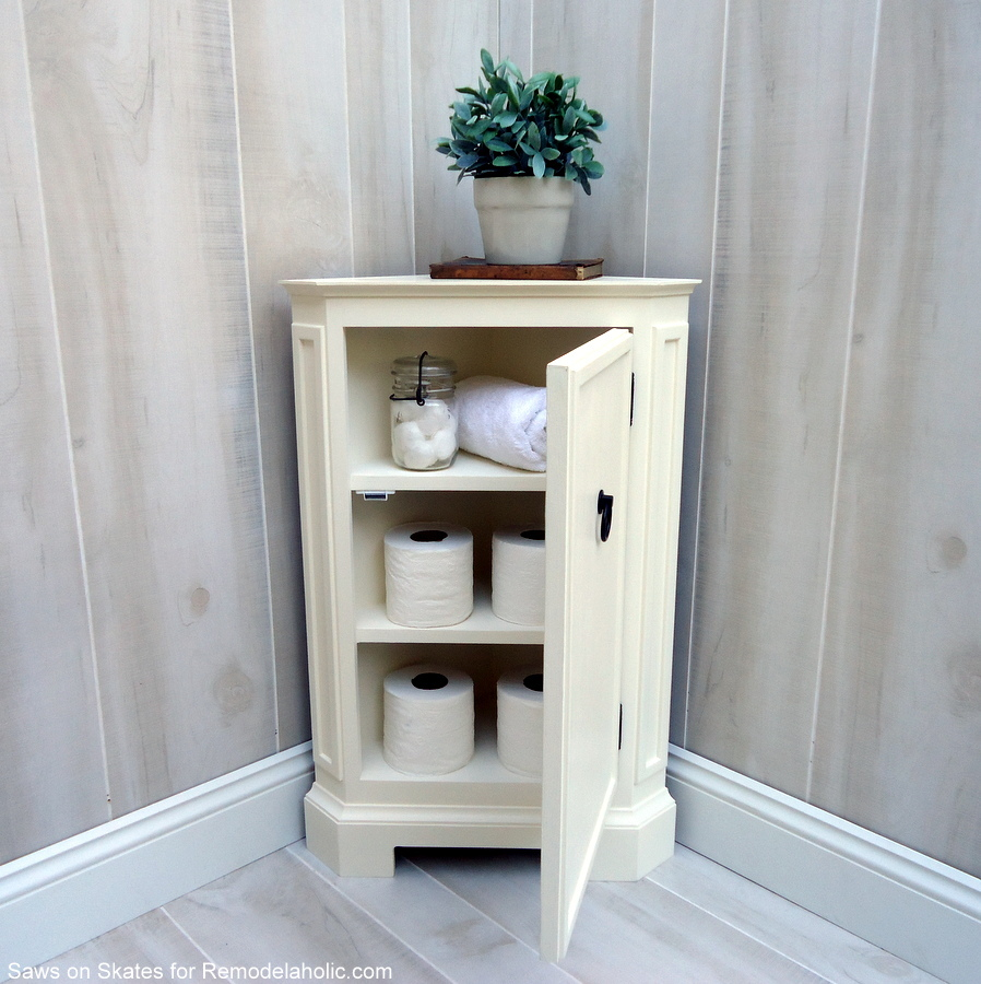 Built In Storage Cabinet Plans: How To Build A Catalog Inspired Corner Cabinet
