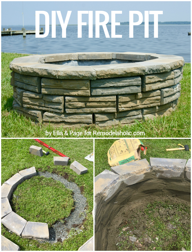 Remodelaholic diy retaining wall block fire pit diy retaining wall block fire pit tutorial less expensive than a kit solutioingenieria Images