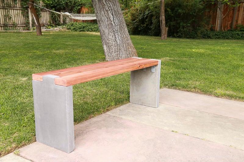 diy-modern-concrete-and-redwood-bench-remodelaholic-8420