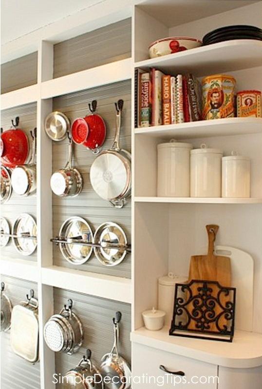 DIY Wall Mounted Pot Rack Shallow Display Cabinet