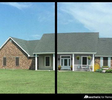Adding Curb Appeal: The Blank Slate Brick Ranch