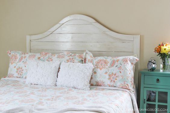 Fixer Upper DIY Distressed Wood Headboard_Creative Savings