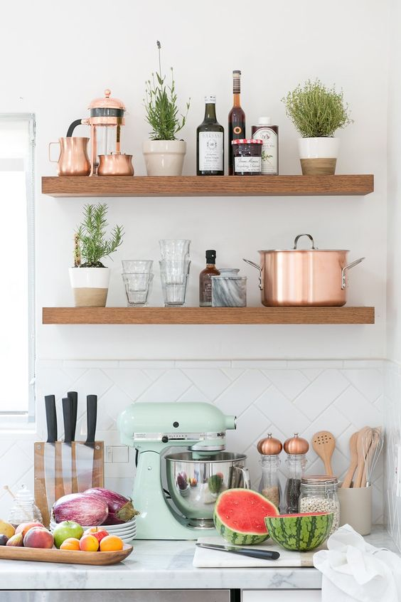 Mint and Copper Kitchen Inspiration | Image Source: Crate and Barrel Concept and styling: 100 Layer Cake Photo Credit: Scott Clark Photo