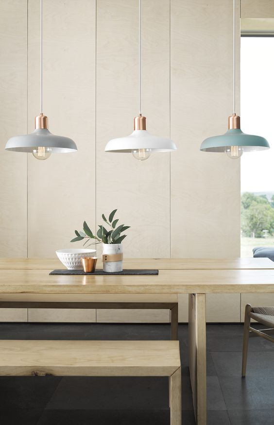 Mint and Copper Kitchen Inspiration   Image Source: Beacon Lighting