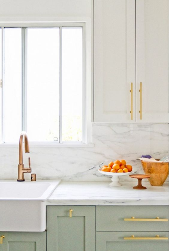 Mint and Copper Kitchen Inspiration   Image Source: My Domaine Photo Credit: Sarah Sherman Samuel