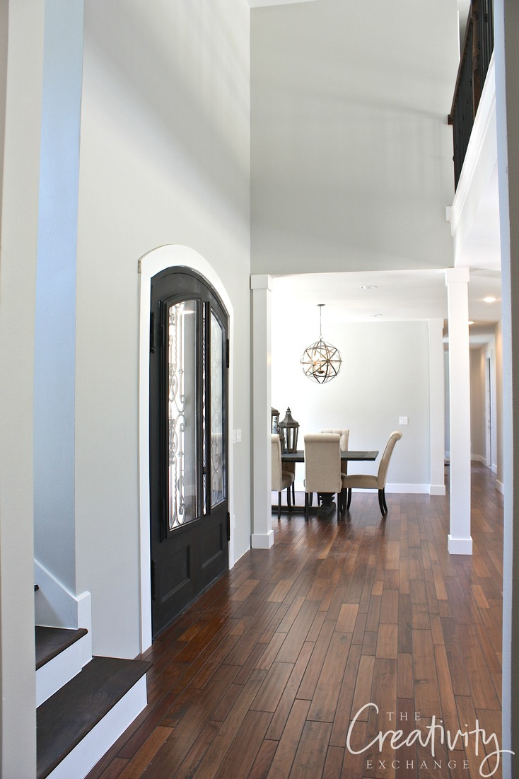 Tips for choosing a whole home paint color | Repose Gray from Sherwin Williams. One of the best paint colors out there. | More paint colors and tips at Remodelaholic.com