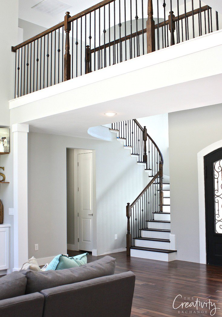 Tips for choosing a whole home paint color   Wall color is Repose Gray by Sherwin Williams   More paint colors and tips at Remodelaholic.com