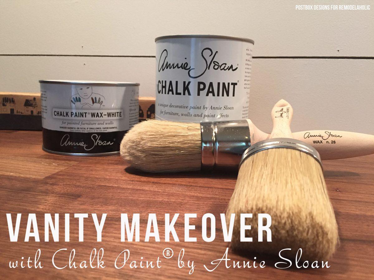 No sanding or priming! Chalk Paint® bathroom vanity makeover (and full bath renovation) on @remodelaholic