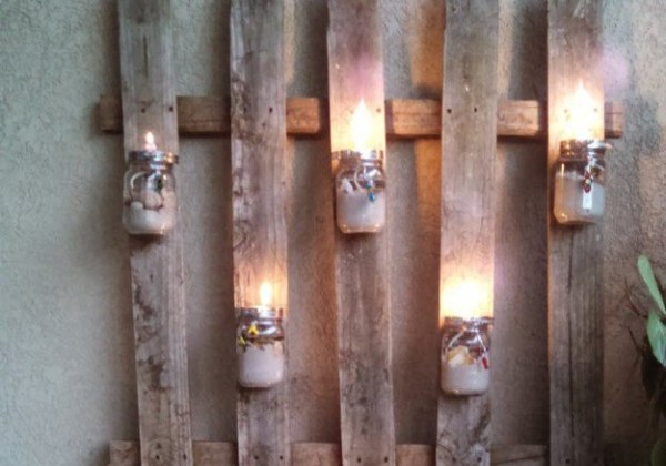 Repurposed Fence For DIY Patio Lighting From DIY Projects On Remodelaholic