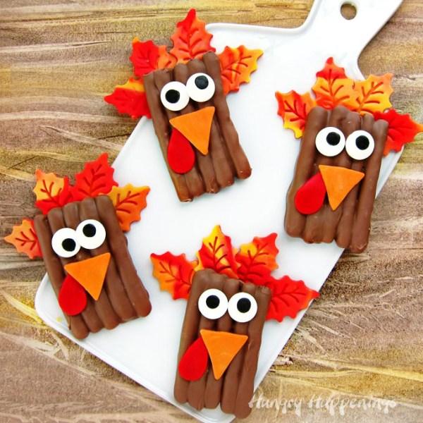 Chocolate Pretzel Turkeys Hungry Happenings