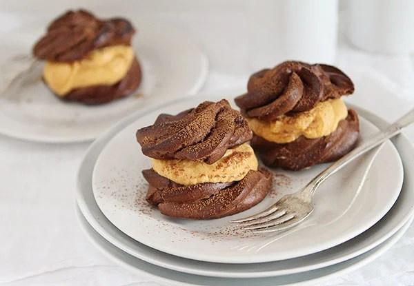 Chocolate Puffs With Pumpkin Filling I Am Baker