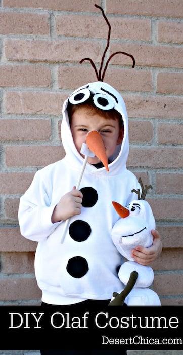 DIY Olaf Costume Disney Frozen