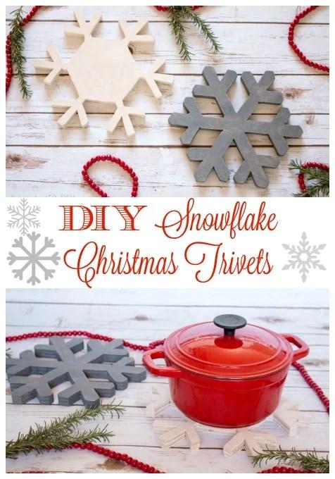 Diy Snowflake Christmas Trivets
