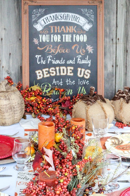 Fall Thanksgiving Tablescape Idea 10
