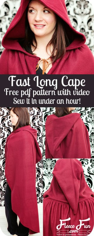 Fast And Fun Long Cape Costume