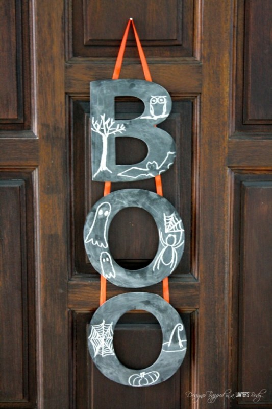 Halloween Boo Wreath