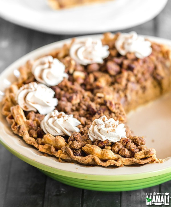 Pumpkin Pie With Pecan Streusel Cook With Manali