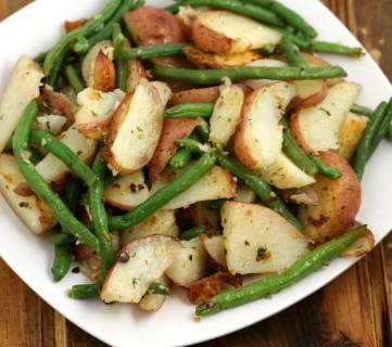Roasted Potatoes And Green Beans 4
