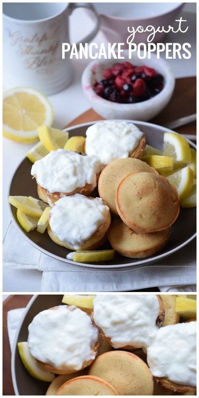 Try these easy and cute pancakes for breakfast. Super yummy and easy breakfast recipe. Yogurt pancake poppers via remodelaholic.com
