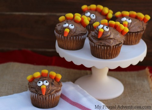 Turkey Cupcakes For Thanksgiving My Frugal Adventures