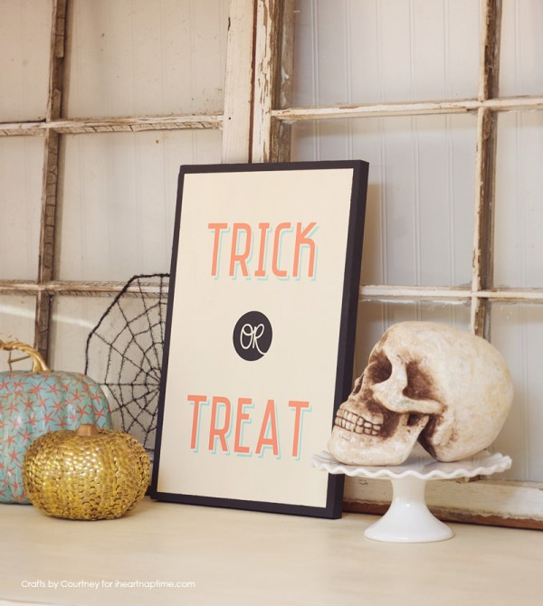 Vintage Halloween Sign I Heart Naptime
