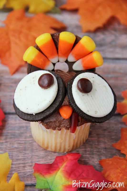Wide Eyed Turkey Cupcakes Bitz N Giggles