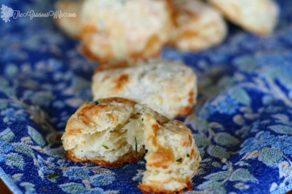 Brie And Chive Biscuits