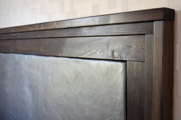 Diy Headboard Upholstered And Leather The Handymans Daughter