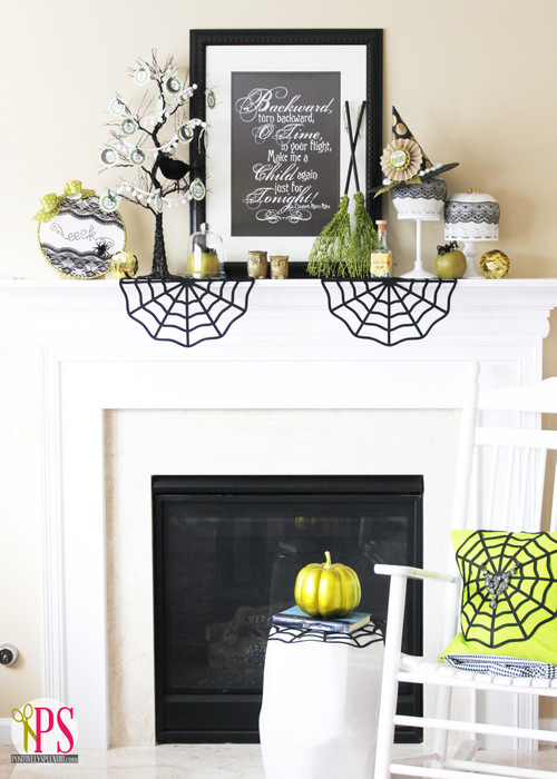 pretty halloween mantel | Halloween Decoration Ideas