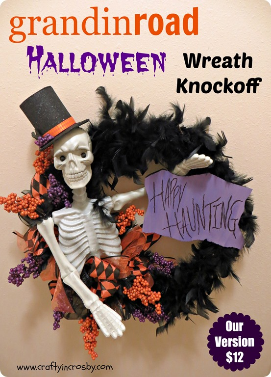 Skeleton Halloween Wreath