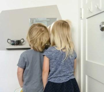 DIY Kids Floating Vanity Station