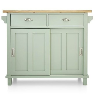 Mint And Copper Kitchen Island