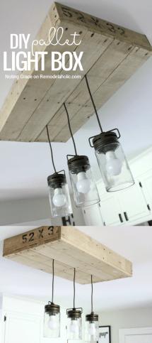 Make Pallet Wood Light Box