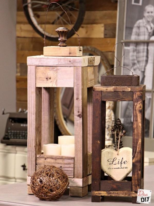 Scrap Wood Lanterns Diva Of DIY