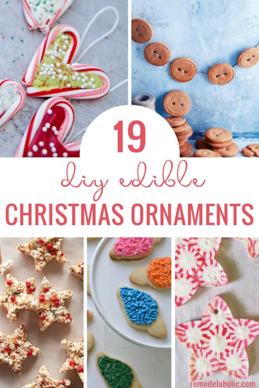 Decorate your tree with something exciting and edible! Why not create one of these 19 DIY Edible Christmas Ornaments for your tree. Ideas featured on Remodelaholic.com